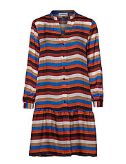 DHStry Dress - MULTI COLOUR STRIPES