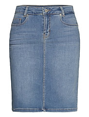 12 THE DENIM SKIRT - LIGHT BLUE VINTAGE WASH