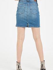 Denim Hunter - 12 THE DENIM SKIRT - jeanskjolar - light blue vintage wash - 5
