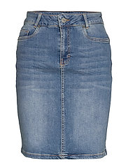 12 THE DENIM SKIRT - LIGHT BLUE WASH