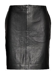 19 THE LEATHER SKIRT - BLACK