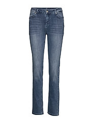 33 THE CELINA HIGH STRAIGHT CUSTOM - MEDIUM BLUE VINTAGE WASH