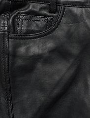 Denim Hunter - 24 THE LEATHER PANT - lederhosen - black - 3
