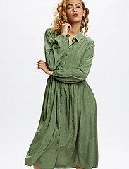 Denim Hunter - DHSandy Dress - vardagsklänningar - oil green dot print - 0