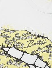 Denim Hunter - DHKiss T-shirt - t-shirts - bright white / yellow print - 5