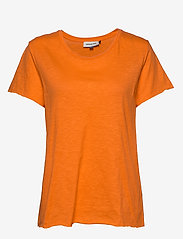 Denim Hunter - DHLuz O Neck Tee Slub Yarn Jersey - basic t-shirts - orange clown fish - 0