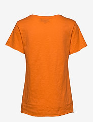 Denim Hunter - DHLuz O Neck Tee Slub Yarn Jersey - basic t-shirts - orange clown fish - 1