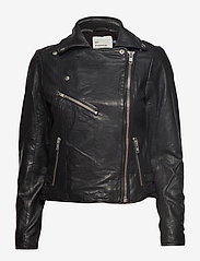 Denim Hunter - 02 THE LEATHER JACKET - skinnjackor - black - 2