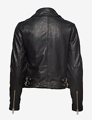 Denim Hunter - 02 THE LEATHER JACKET - skinnjackor - black - 6