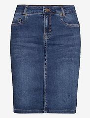 Denim Hunter - 12 THE DENIM SKIRT - jeanskjolar - medium blue vintage wash - 1