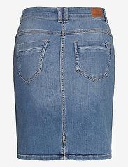 Denim Hunter - 12 THE DENIM SKIRT - jeanskjolar - light blue vintage wash - 2