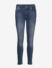 Denim Hunter - 31 THE CELINAZIP CUSTOM - wąskie dżinsy - medium blue vintage wash - 1