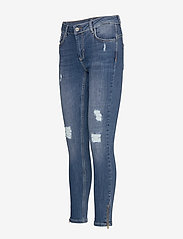 Denim Hunter - 40 THE CELINAZIP TORN CUSTOM - skinny jeans - medium blue vintage wash - 2