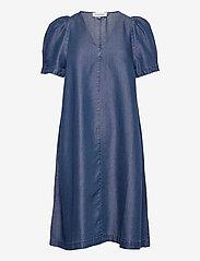Denim Hunter - DHLouisa Dress - sommarklänningar - dark blue wash - 1