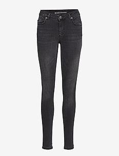 Celina long custom - skinny jeans - grey washed