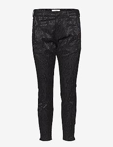 Sysse Jaquard 7/8 Pant - spodnie rurki - black