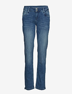 Regitze Curved - straight jeans - blue wash