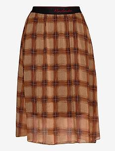 DHSofie Skirt - midinederdele - redwood