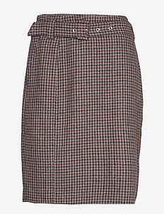 DHHarper Skirt - VINEYARD WINE CHECKED