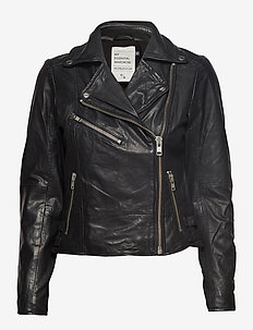 02 THE LEATHER JACKET - kurtki skórzane - black