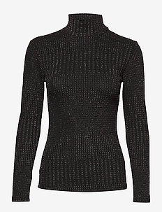 DHZoe Kick Rollneck - BLACK COLOUR LUREX