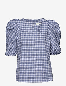 DHMilano Checked Blouse - PALACE BLUE
