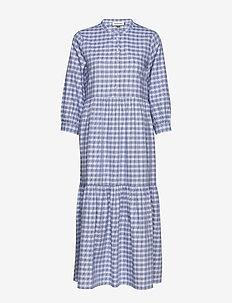DHMilano Checked Dress - PALACE BLUE