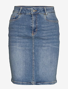 12 THE DENIM SKIRT - jeansrokken - light blue wash