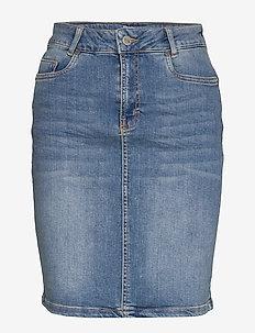 12 THE DENIM SKIRT - jeansowe spódnice - light blue wash