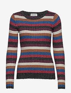 DHElsie Stripe Knit Oneck - MULTI COLOUR