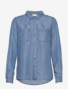15 THE DENIM SHIRT - denimskjorter - light denim blue