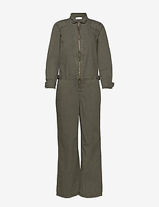 DHHelene Boiler Suit - DUSTY OLIVE