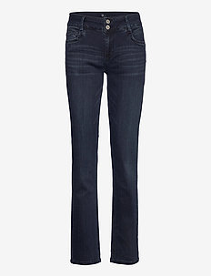 35 THE REGITZE CURVED - straight jeans - dark blue wash