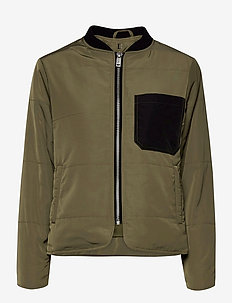 DHGrue Short Jacket - bomber jakker - dusty olive