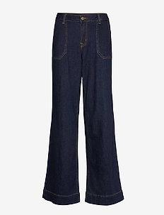DHMay High Flared Custom - flared jeans - dark blue un-wash