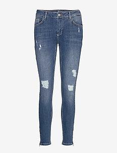 40 THE CELINAZIP TORN CUSTOM - skinny jeans - medium blue vintage wash