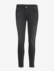 40 THE CELINAZIP TORN CUSTOM - skinny jeans - black wash