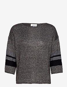 DHCeline Knit Pullover - tröjor - black melange
