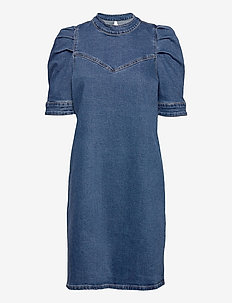 DHVitus Denim Dress - jeansowe sukienki - medium blue retro wash