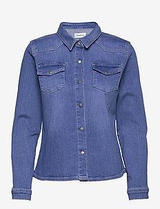 DHStinna Denim Shirt - långärmade skjortor - light blue/ blue wash