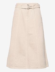 DHKira Skirt - jeanskjolar - oatmeal