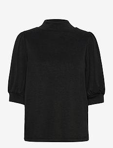 DHElle Blouse - short-sleeved blouses - black