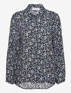 DHFlora Shirt - long-sleeved shirts - total eclipse flora print