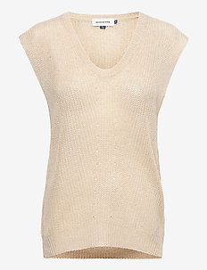 DHMary Knit Vest - knitted vests - oatmeal