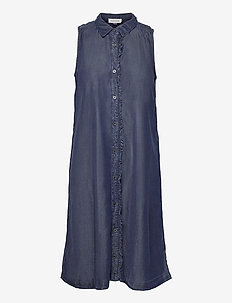 DHCala Dress - skjortklänningar - dark blue/ blue wash