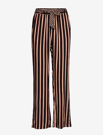 DHPea Striped Pants - vide bukser - black stripe