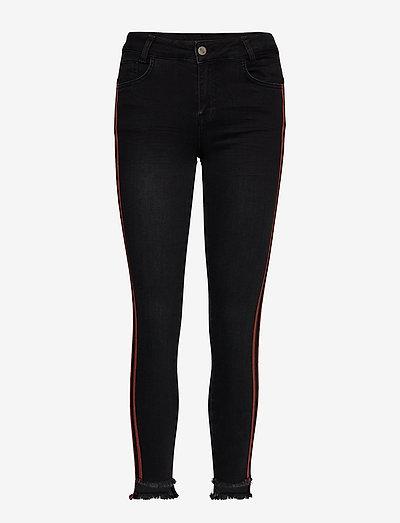 DHSila 7/8 High Custom - slim jeans - black /cinnamon stick tape