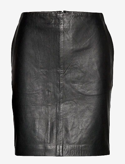 19 THE LEATHER SKIRT - jupes crayon - black