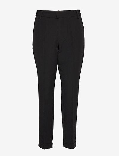 21 THE BLACK PANT - bukser med lige ben - black