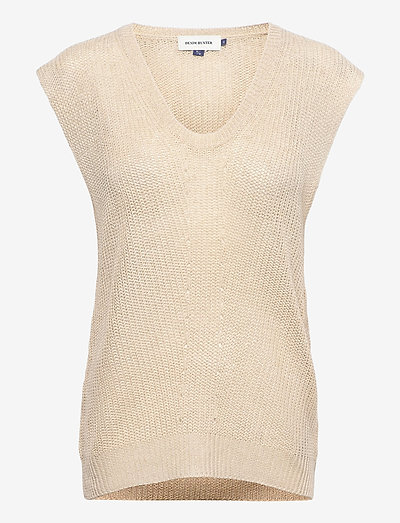 DHMary Knit Vest - strikkevester - oatmeal